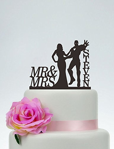 Iron Man Cake Topper Wedding Cake TopperMr and Mrs Cake Topper
