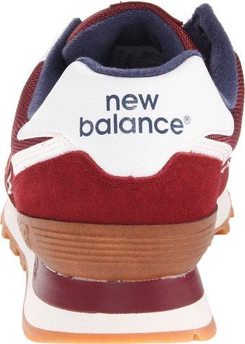 New Balance Mens Ml574 Kantine Hardloopschoen Bordeaux Rood / Marine