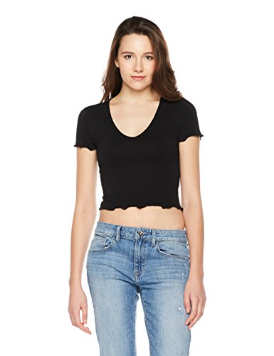 Something for Everyone Women's Crop Short-Sleeve Top With Lettuce-Edge Hem