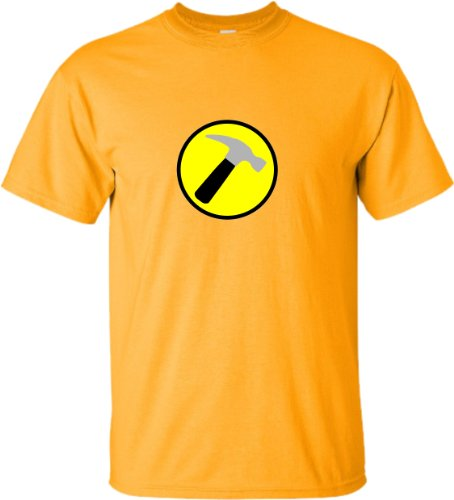 Small Gold Adult Captain Hammer T-Shirt