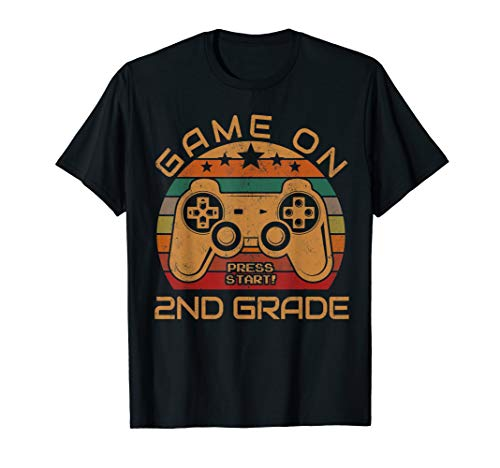 Game On 2nd Grade First Day Gamer Gift Back to School T-Shirt