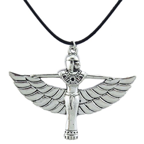 (2 Pack) Pharaonic Egyptian Goddess Isis Ancient Egypt God Winged Pendant Charms Necklace - Egypt Charm Jewelry