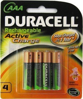 AAA Duracell Rechargeable Batteries Active Charge