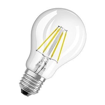 Radium - Bombilla LED, cristal, E27, 4 W, transparente, 10,5 x 6 x 6 cm: Amazon.es: Iluminación