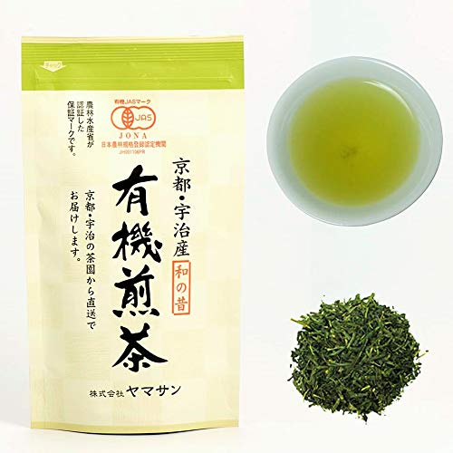 (CHAGANJU- Japanese Sencha Loose Leaf Green Tea, JAS Certified Organic, Uji-Kyoto, 80g Bag)