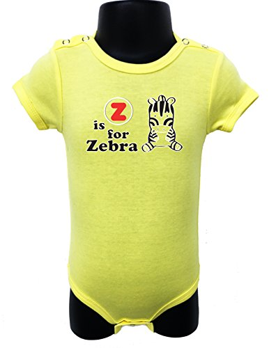 N105 BABY ROMPER SHORT SLEEVE ONESIE UNISEX Z IF FOR ZEBRA GIFT BAGGED A&G (0-6 Months, - List A-z Designer Brands