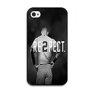 Black iPhone 4/4s Case - Derek Jeter RE2PECT Respect New York Yankees