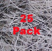 5 Sets, Pretabbed 8'' 60-44-18 Zinc Wicks 25 Pieces One Set for Paraffin Or Gel Container Candles 3 to 4 Inches In Diameter