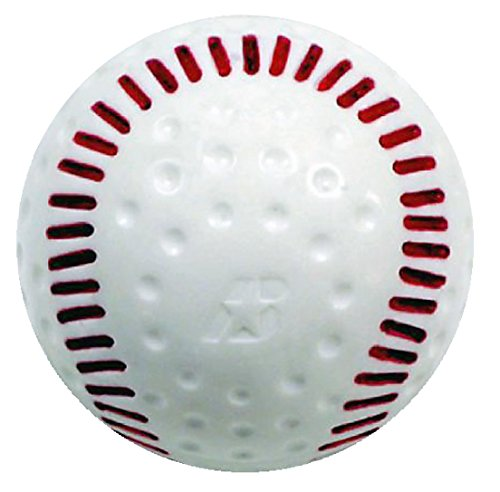 Baden White Dimpled Baseballs with Red Seams (One Dozen)