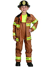 Jr. Fire Fighter Suit with Embroidered Cap
