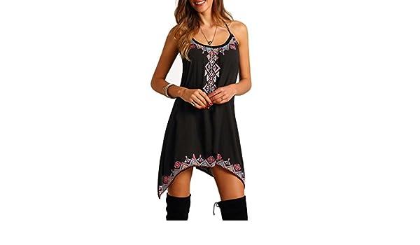 Ba Zha Hei Vestido de Playa con Estampado de Manga Vestir Huella Hueca Tops Diseño único Ropa Skirt para Mujer Vestido: Amazon.es: Electrónica