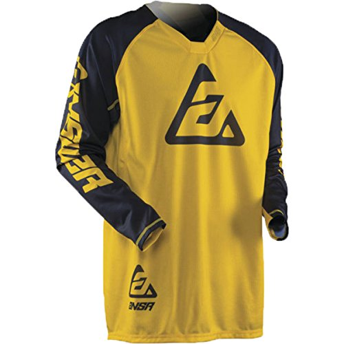 (Answer Racing A18.5 Elite Men's Off-Road Motorcycle Jersey - Yellow/Blue / Large)