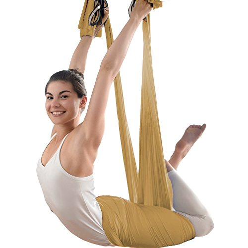 Workmanship 2 Meters Yoga Stretch Strap Band Belt Fitness Pilates 10 Loops Trianing Adjustable Exercise Aerial Yoga Hammock Swing Daisy Rope Exquisite In