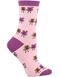 Design Women's Casual Comfortable Cotton Crew Socks(Size:5.5-9)