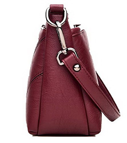 Shoulder Zippers Fashion Claret Bags Clutch LightGray AgooLar Casual Pu Women's GMDBB180878 Bag xYa5pn40qw