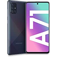 Samsung Galaxy A71 (128GB, 6GB) 6.7″, 64MP Quad Camera, 25W Fast Charger, Android 10, GSM Unlocked US + Global 4G LTE International Model A715F/DS (128GB + 64GB SD + Case Bundle, Prism Crush Black)