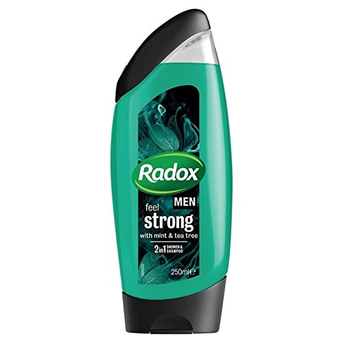 - Radox Men Feel Strong Mint & Tea Tree 2in1 Shower Gel 250ml (PACK OF 6)