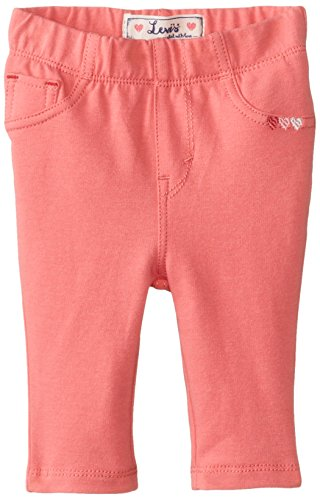 Levi's Baby-Girls Infant Addison French Terry Legging, Tea Rose Pink, 3-6 Months