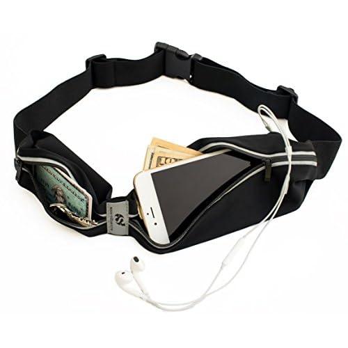 sport2people Running Pouch Belt, USA Patented, Runner Waist Pack iPhone X 6 7 8 for Men and Women 418pdsLfByL