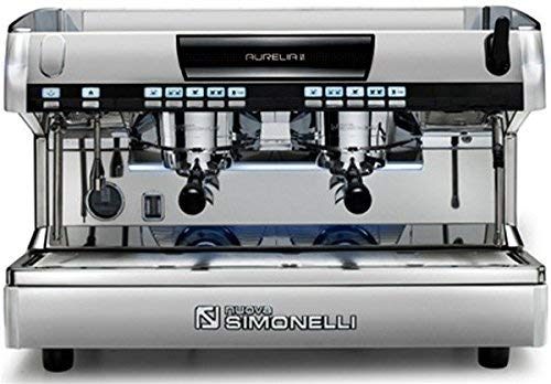 Nuova Simonelli Aurelia II Volumetric 2 Group Espresso Machine MAUREIIVOL02ND0001 with Free Espresso Starter Kit and 3M Water Filter System