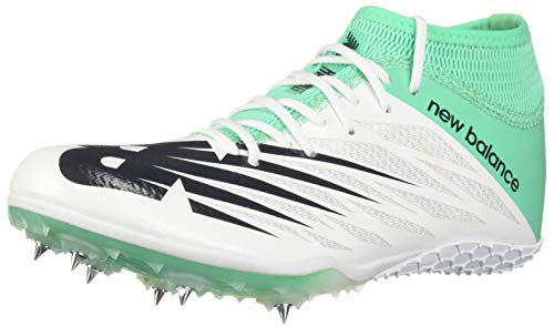 New Balance Women's 100v2 Vazee Track Shoe White/neon Emerald 10 B US