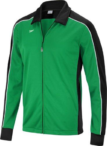 Speedo Male Warm Up Jacket - Streamline, Black/Green, X-Large