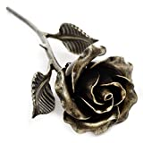 Hand Forged Metal Rose (Bronze Stained) Gift of