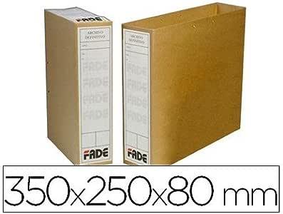 Elba 400042271 - Caja de 100 bolsas archivo definitivo, cartón microcanal: Amazon.es: Oficina y papelería