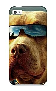 Durable Dog With Sunglasses Back Case/cover For Iphone 5c