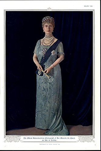 Queen Mary Empress of India German 1935 vintage color British Royalty print