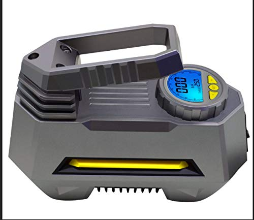 Large LED Screen for Cars//Motorcycle 12V 120W 120PSI Tyre Pump with Larger Air Flow 35L//Min 3 Nozzle SKEY Digital Tyre Inflator Super Bright LED Light Preset Air Compressor Tyre Pump Car Pump