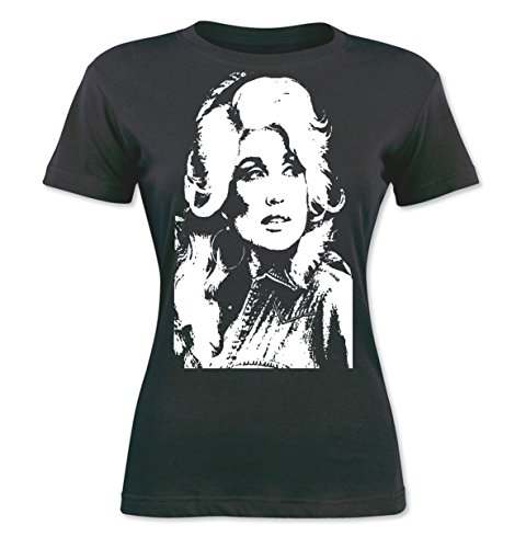 Custom Kingdom Womens Dolly Parton T-Shirt (XXL, (Gray Dolly)