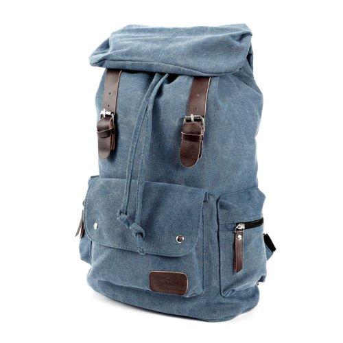 The Pecan Man Blue Vintage Canvas Satchel School Bag Travel Backpack Icon Squad Backpack