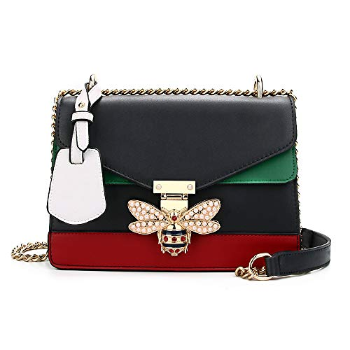 Beatfull Designer Shoulder Fashion Bee PU Leather Handbag for Women, Fashion Crossbody with ()