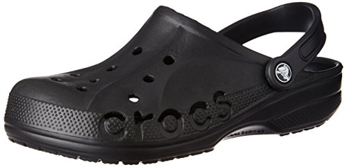 Crocs Mens and Womens Baya Clog, Black, 8 US Women / 6 US Men