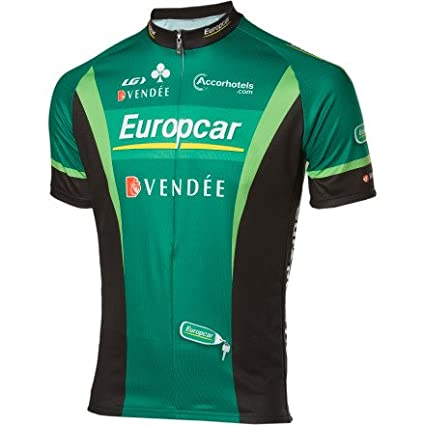 Amazon Com Louis Garneau Europcar Replica Team Jersey Green Size M