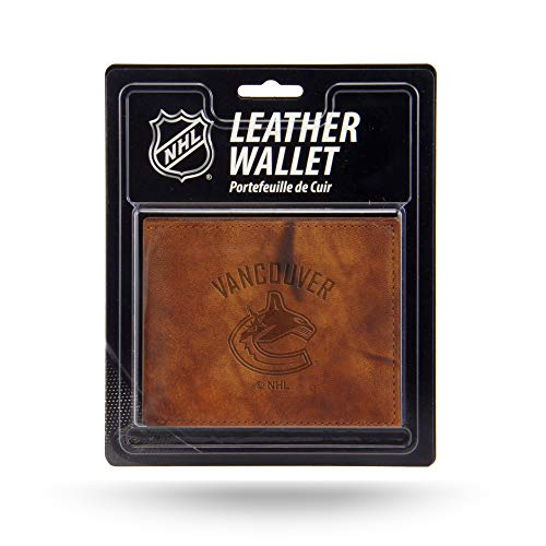 Rico Industries NHL Vancouver Canucks Embossed Leather Billfold Wallet with Man Made Interior