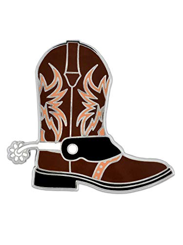 PinMart Texas Western Cowboy Boot Shoe Cowgirl Jewelry Fun Enamel Lapel Pin