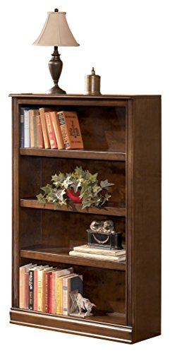 Ashley Furniture Signature Design - Hamlyn Medium Bookcase - 3 Adjustable Shelves - Traditional - Medium Brown Finish ()