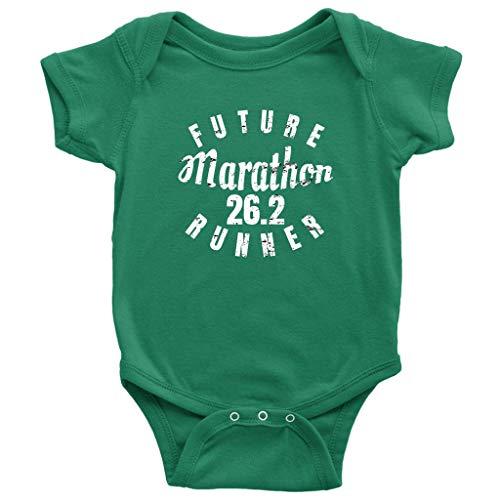 Teehub Future Marathon Runner Baby Bodysuit 26.2 Miles Distance Running One-Piece (Green, 6M)]()