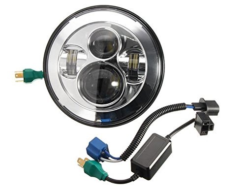 MD Group Motorcycle Headlight 7inch LED with 2pcs 4.5inch LED Auxiliary Passing Lights For Harley Davidson by MD Group