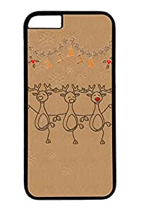 iPhone 6 Case, Personalized Unique Design Covers for iPhone 6 PC Black Case - Merry Christams Dance