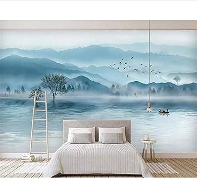 Papel Tapiz Personalizado Mural Lujoso Ambiente Artístico Tinta Bosque Nuevo Televisor Sofá Telón De Fondo Pared Papel Tapiz 3D Tapet (W)140x(H)100cm: Amazon.es: Bricolaje y herramientas