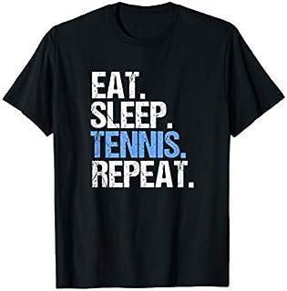 ⭐️⭐️⭐️ Eat Sleep Tennis Repeat Tennis Player Fans Tee Gift  Need Funny Tee Shirt Need Funny Short/Long Sleeve Shirt/Hoodie