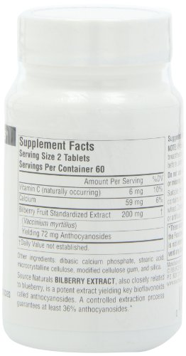 Source Naturals Bilberry Extract 100mg, Standardized Botanical Antioxidant, 120 Tablets by Source Naturals (Image #4)