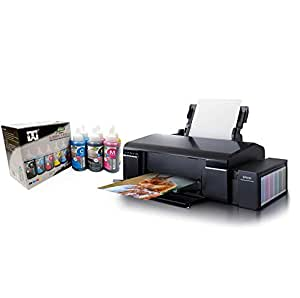 Epson L805 Printer with T W Ultra Glossy Special inkjet inks L Series Special Dye Ink 100ml x 6 color.