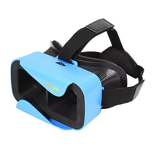 UVISTAR 3D VR Brille für Handy Virtuelle Realität Headset für 4.0-6.0 Zoll Smartphones, Samsung S5 S6, Note 3 4 5, iPhone 6s/6 plus, HTC One M, LG, Sony usw. Für 3D-Video, 3D-Filme, 3D-Game Blau