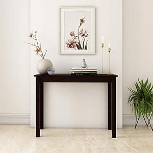 Amazon Brand – Solimo Xena Solid Pinewood Console Table (Cocoa Finish)