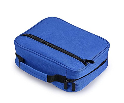 60 Einfügen Super Large Capacity Abnehmbare Multi-Layer-Studenten Bleistift-Tasche. Multi Layer PencilHolder Reißverschluss Farbige Bleistifte Organizer Fall für Schule und Reisen. Mädchen und Jungen  blue 5ZkHi