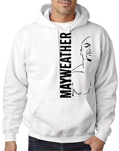 Cheap Floyd Mayweather '(Black) Half Body' White Hoodie by MYOS supplier
